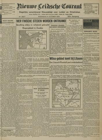 Nieuwe Leidsche Courant 1939-10-11