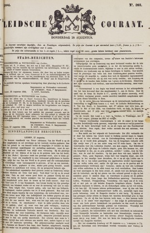 Leydse Courant 1884-08-28