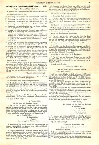 Handelingen van de Raad 1915-02-25
