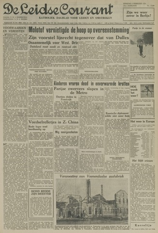 Leidse Courant 1954-02-02