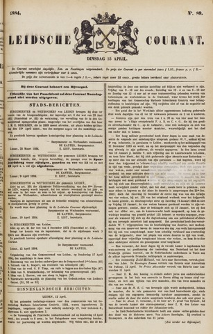 Leydse Courant 1884-04-15