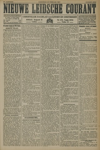 Nieuwe Leidsche Courant 1927-02-23