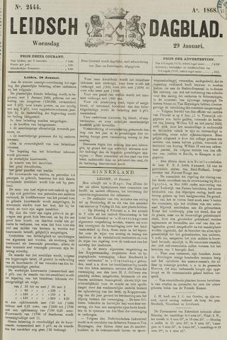 Leidsch Dagblad 1868-01-29