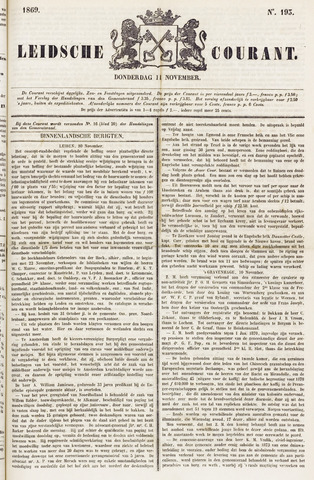 Leydse Courant 1869-11-11