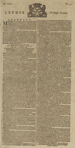 Leydse Courant 1754-02-08