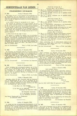 Handelingen van de Raad 1912-12-09