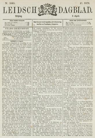 Leidsch Dagblad 1878-04-05