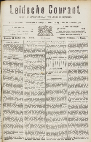 Leydse Courant 1889-10-14