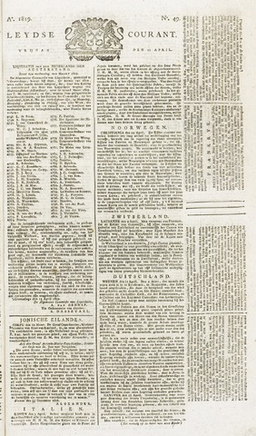Leydse Courant 1819-04-23