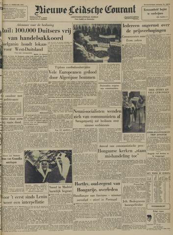Nieuwe Leidsche Courant 1957-02-11