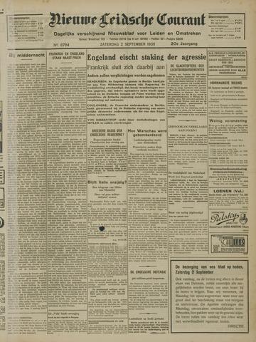 Nieuwe Leidsche Courant 1939-09-02