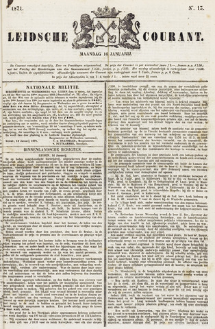 Leydse Courant 1871-01-16