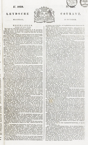 Leydse Courant 1839-10-28