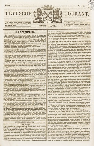 Leydse Courant 1860-04-13