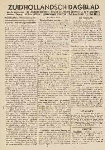 Zuidhollandsch Dagblad 1944-12-27