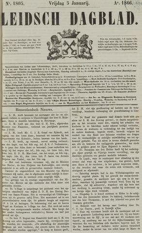 Leidsch Dagblad 1866-01-05