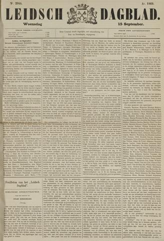 Leidsch Dagblad 1869-09-15