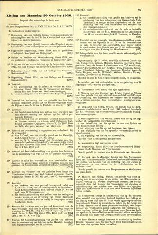 Handelingen van de Raad 1930-10-20