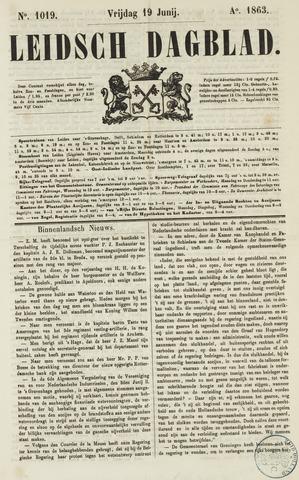 Leidsch Dagblad 1863-06-19
