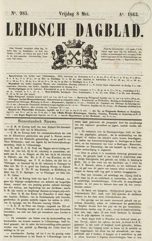 Leidsch Dagblad 1863-05-08