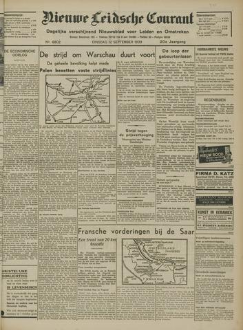 Nieuwe Leidsche Courant 1939-09-12