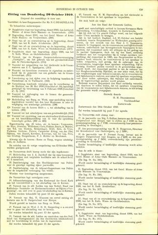 Handelingen van de Raad 1910-10-20