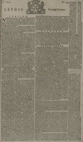 Leydse Courant 1749-11-21