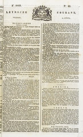 Leydse Courant 1843-04-14