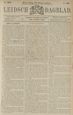 Leidsch Dagblad 1885-09-19