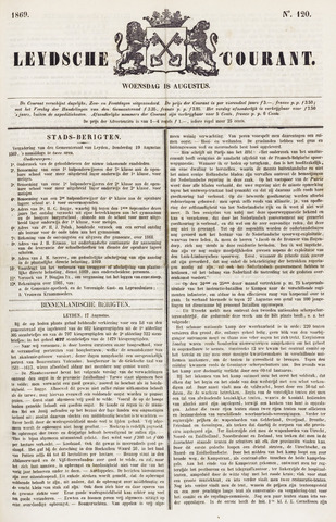 Leydse Courant 1869-08-18