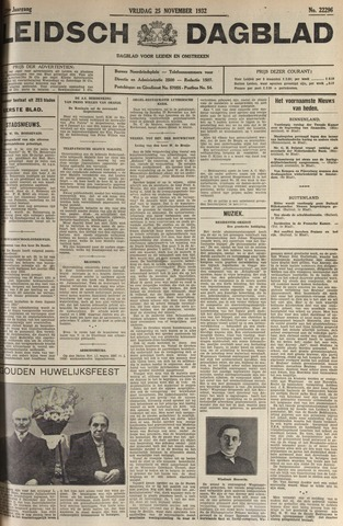Leidsch Dagblad 1932-11-25