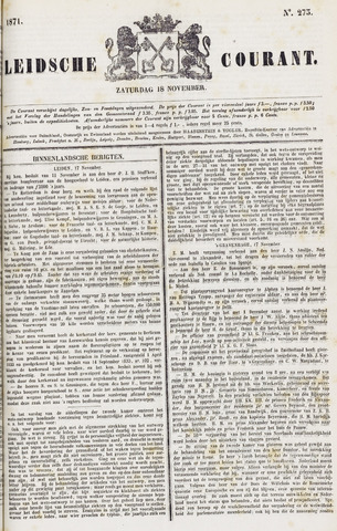 Leydse Courant 1871-11-18