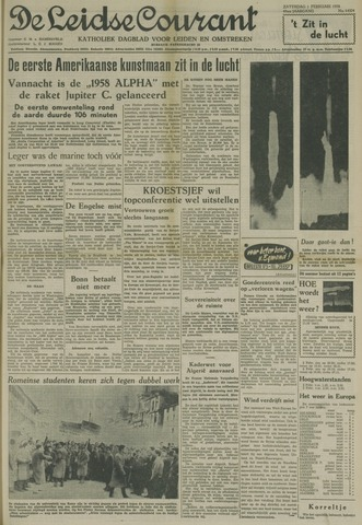 Leidse Courant 1958-02-01