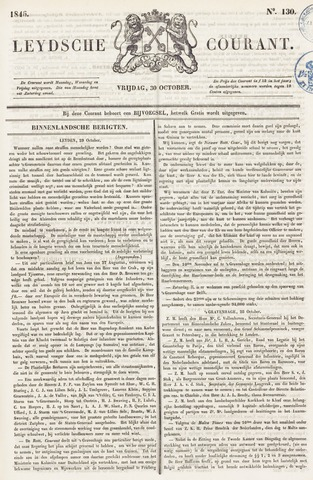Leydse Courant 1846-10-30