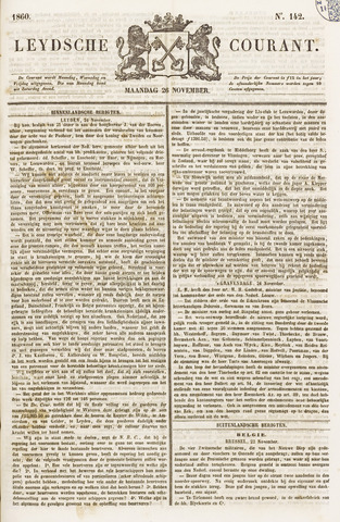 Leydse Courant 1860-11-26