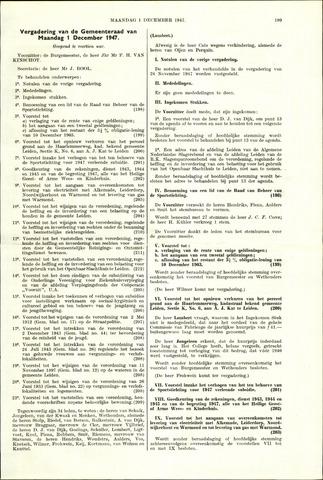 Handelingen van de Raad 1947-12-01