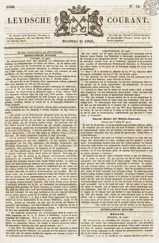 Leydse Courant 1860-04-30