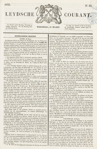 Leydse Courant 1855-03-21
