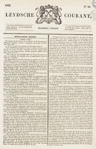Leydse Courant 1853-03-07