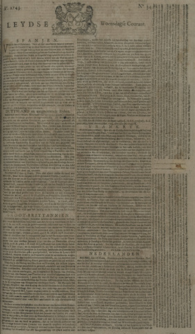 Leydse Courant 1743-03-20