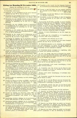 Handelingen van de Raad 1923-11-26