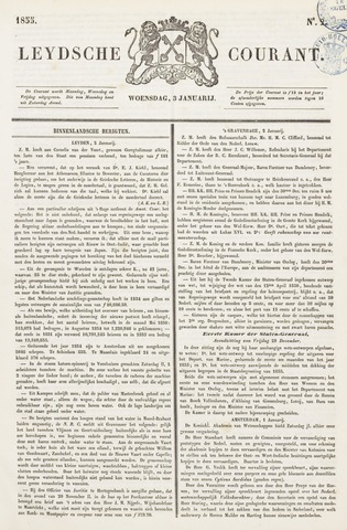 Leydse Courant 1855-01-03