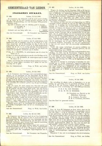 Handelingen van de Raad 1903-07-14