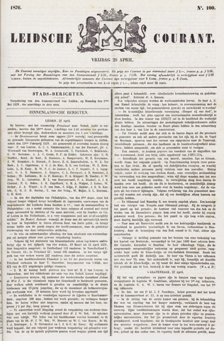Leydse Courant 1876-04-28