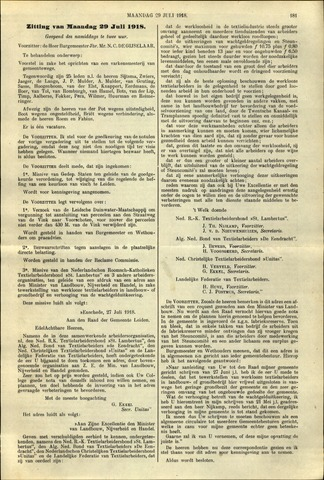 Handelingen van de Raad 1918-07-29