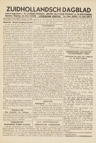 Zuidhollandsch Dagblad 1944-11-15