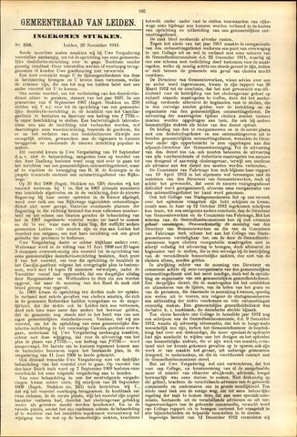 Handelingen van de Raad 1916-11-29