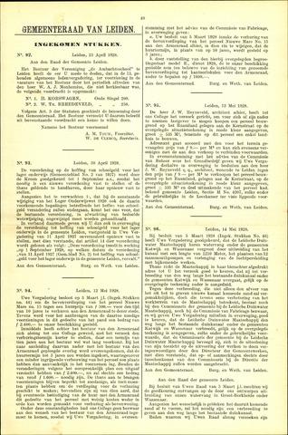 Handelingen van de Raad 1928-04-23