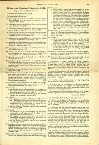 Handelingen van de Raad 1921-08-08