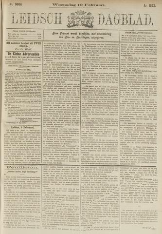 Leidsch Dagblad 1892-02-10